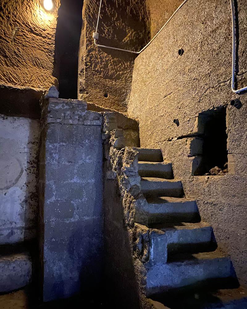 Napoli sotterranea percorso LAES cunicolo