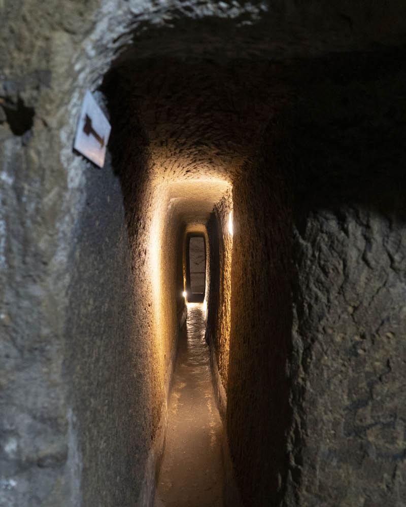 LAES Napoli sotterranea cunicolo